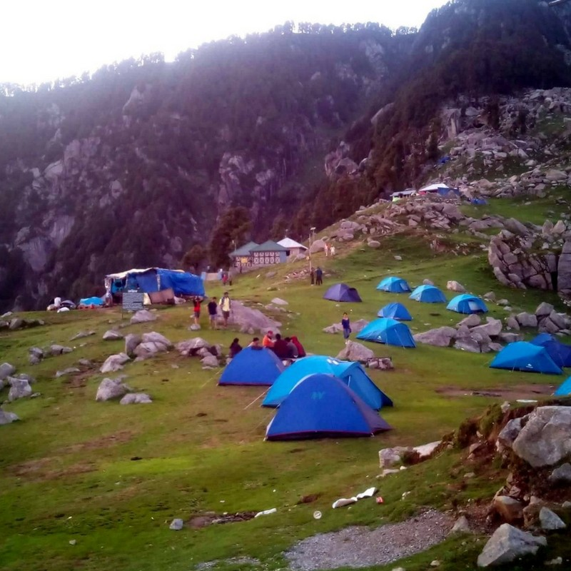 Tent View in Triund