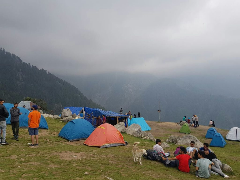 Camping Site at Triund